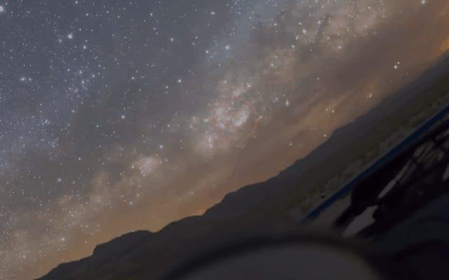 Un affascinante timelapse notturno dalla prospettiva di un telescopio