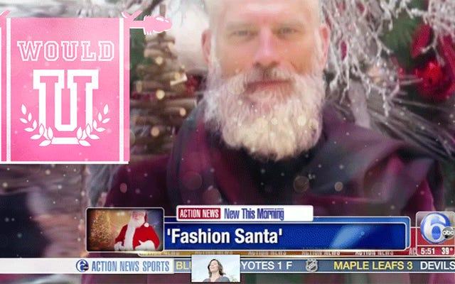 Auriez-vous des relations sexuelles avec ce Père Noël chic?