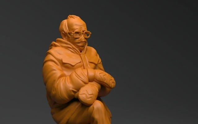 3D Cetak Pouting Bernie Anda Sendiri