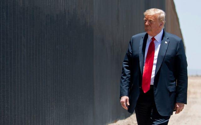トランプは彼がオフィスを去る前に彼の「大きくて美しい」国境の壁を終えるために急いでいます