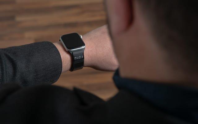 Questo cinturino elegante ti consente di controllare l'Apple Watch con i gesti