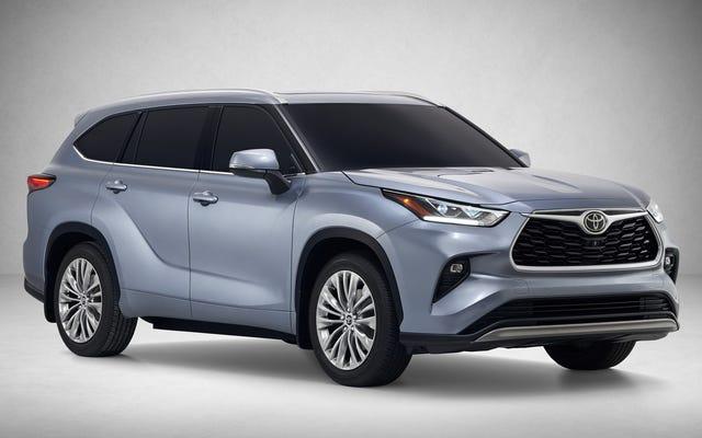 Le Toyota Highlander hybride 2020 obtient 34 MPG et un grand nouvel écran tactile