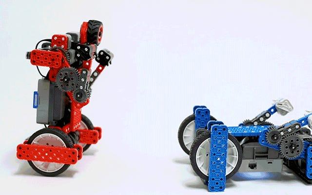 Me encanta ver cómo estos robots de boxeo autoequilibrados se golpean entre sí en la sumisión