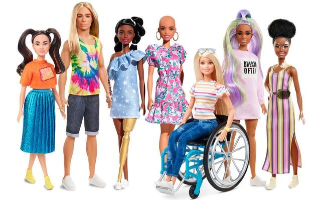 生きている人形:マテルは2020年に向けてさらに多様なオプションでバービーの進化を続けています