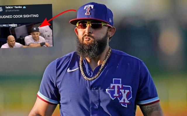Bau apa itu? Penampilan baru Mr. Clean dari Rougned membuat penggemar MLB marah