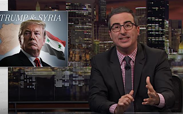 「これを間違えるのは本当に難しい」とトランプのシリアの独裁者を抱きしめるジョン・オリバーは驚嘆する