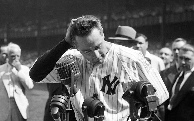 Smithsonian Unearths บันทึกประวัติศาสตร์ 1939 ของพิธีกรรายการวิทยุกีฬาวิจารณ์ความมุ่งมั่นของ Lou Gehrig ที่มีต่อเบสบอล
