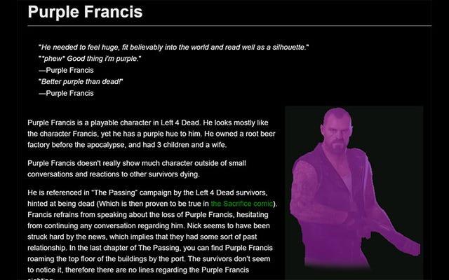 Wiki de Left 4 Dead profanado para agregar el quinto superviviente, que ahora es Canon, esas son las reglas