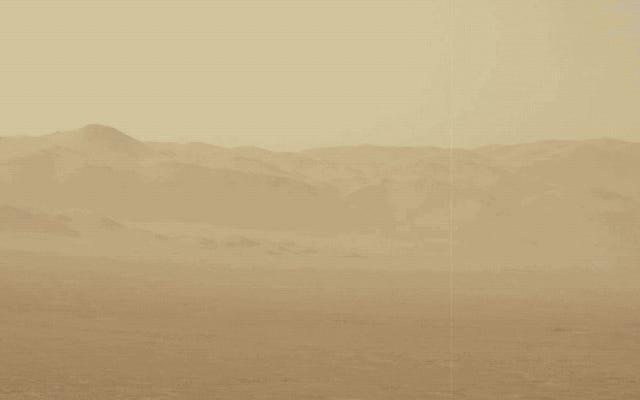 火星のダストストームは非常に大きいので、地球全体を取り囲んでいます