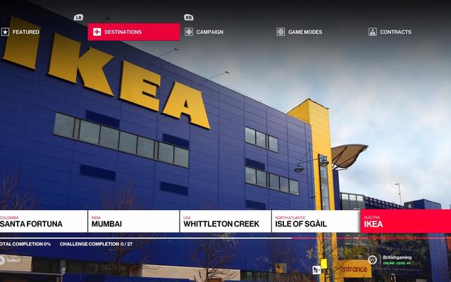 Les magasins IKEA et les niveaux Hitman sont tous deux des escargots avec du fromage suisse