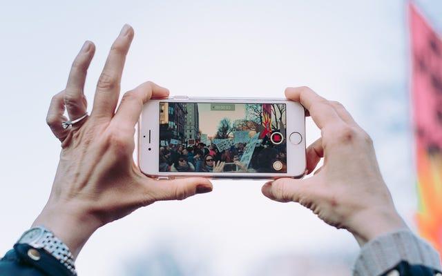 携帯電話のカメラを使用して何かのGIFを作成する方法