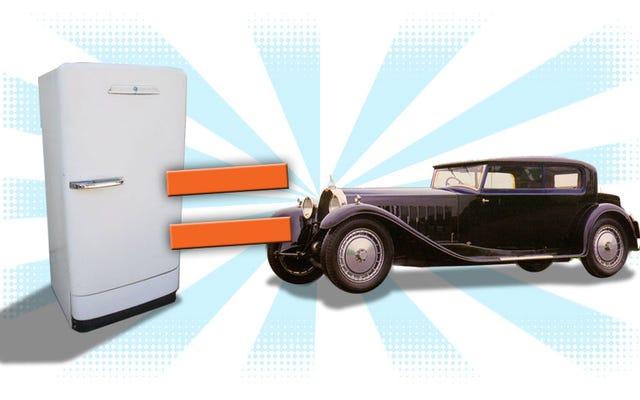 दुनिया में सबसे महंगी कारों में से एक एक बार एक रेफ्रिजरेटर के लिए बेची गई थी