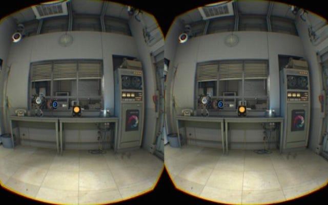 Bu, Valve'ın HTC Vive ile kullandığı muhteşem Portal 2 demosudur.