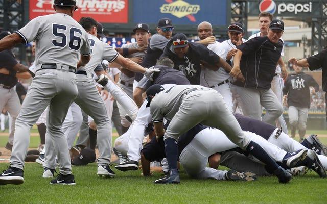 ヤンキースからの私の5つのお気に入りの瞬間-タイガース乱闘