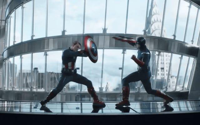 これは、キャプテンアメリカ対キャプテンアメリカの戦いがアベンジャーズ:エンドゲームで作成された方法です