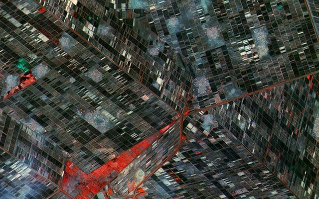 この衛星画像は、ある種の不可能な階段のように見えます