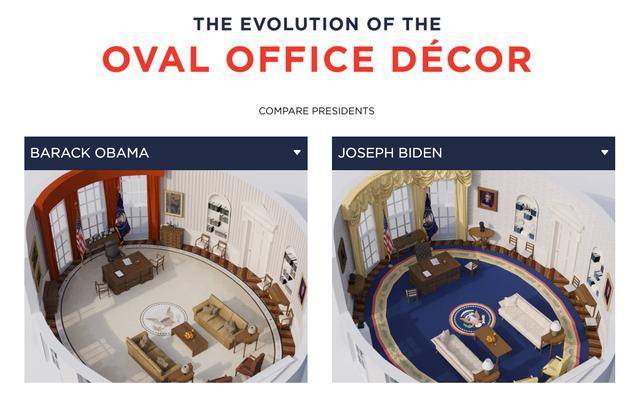 どの大統領が最も厄介なオフィス装飾を持っていたかを比較する