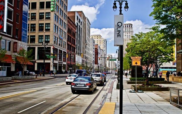 路面電車は宣伝のスタントであり、デトロイトの新しいトロリーも例外ではありません