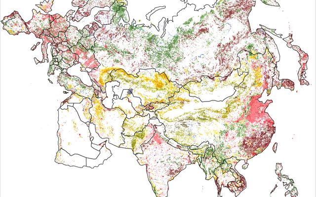 Mapas coloridos muestran cómo hemos transformado la superficie de la Tierra durante los últimos 25 años