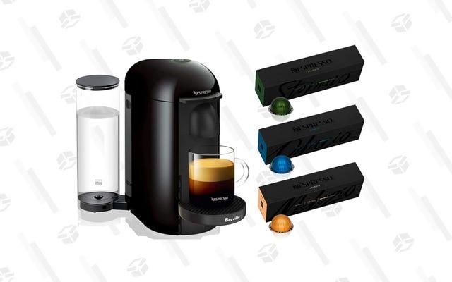 ネスプレッソコーヒーのトップセラーを完備したこのエスプレッソメーカーを48%オフ