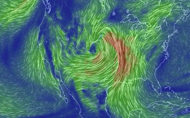Le centre des États-Unis est sur le point d'être touché par un cyclone à la bombe