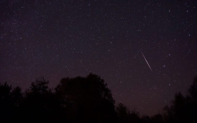今週の週末にオリオン座流星群のピークを見る