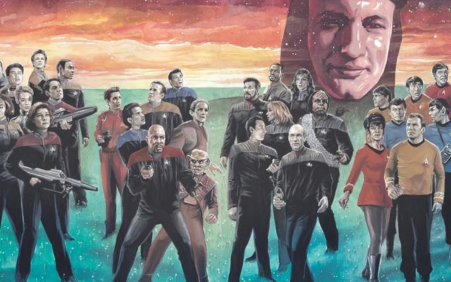 スタートレックは主要な漫画本のクロスオーバーを取得しています、すべてQのおかげで