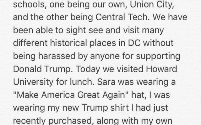 だから、「アメリカを再び偉大にする」帽子の2人の白人女性がHBCUキャンパスに歩いて行く...