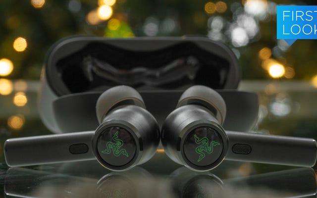 Razerの最新のワイヤレスイヤフォンは、ノイズキャンセリングを追加し、信じられないほどの低音を維持します