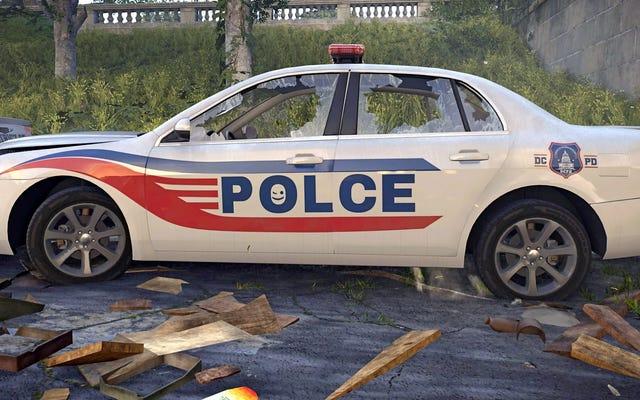 ディビジョン2の開発者は、スペルミスのあるパトカーを見つけるようプレイヤーに挑戦します