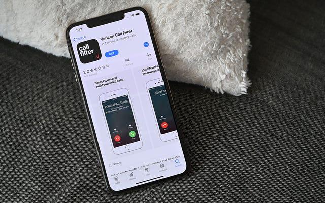 Verizonのスパムブロック通話フィルターが無料になりました