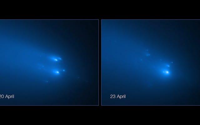 ハッブルは、待望の彗星が崩壊するという信じられないほどの画像をキャプチャします