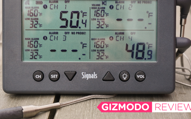 SignalsBBQ温度計は肉をワイヤレスで監視します
