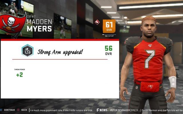 È imbarazzante quando i personaggi di Madden NFL 20 evitano di dire il nome del mio giocatore