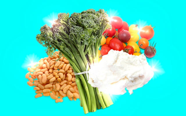 Ce dîner végétarien à bon prix est composé de trois recettes en une