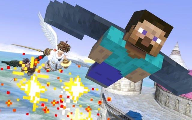 Minecraft के स्टीव सुपर स्मैश ब्रॉस में सुपर अजीब हैं