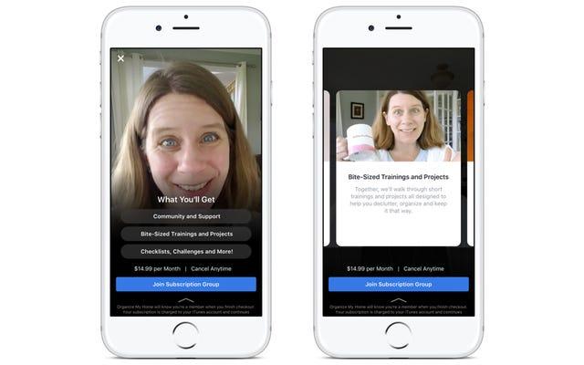 Facebook teste si vous payez de l'argent réel pour le contenu premium de vos groupes préférés