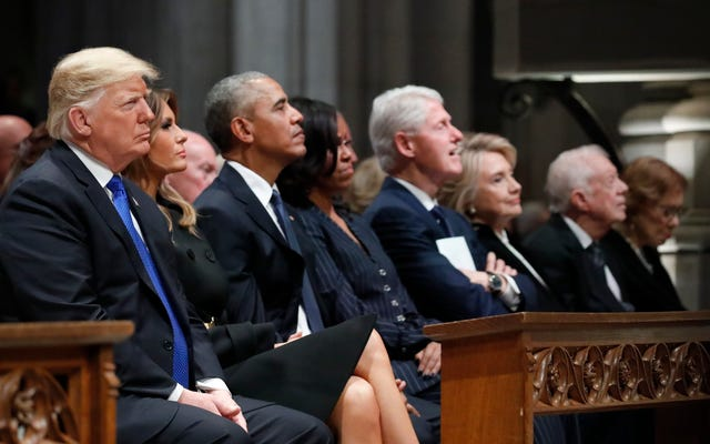 ブッシュの葬式:トランプは誰も彼について悪いことを言わないだろうと確信しました