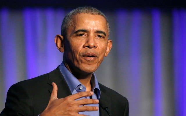 Самой противоречивой частью неофициальной словесной речи Обамы была легкая критика NCAA
