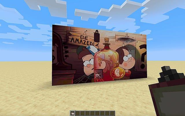 最新のMinecraftのアップデート後、ファンはゲーム内テレビを作成しています