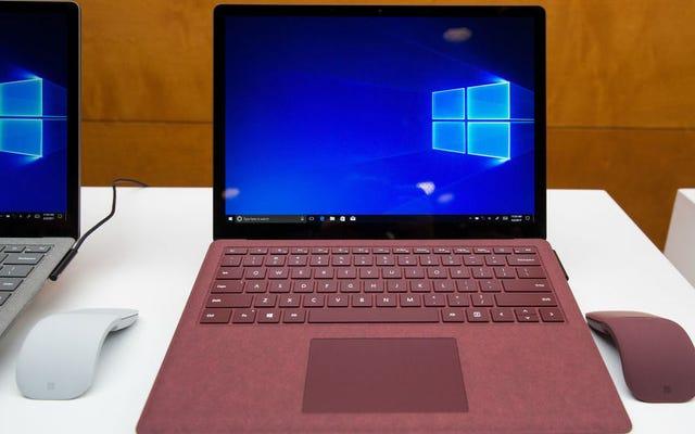 Surface Laptopの所有者は、Windows 10SをWindows10Proに無料でアップグレードできます