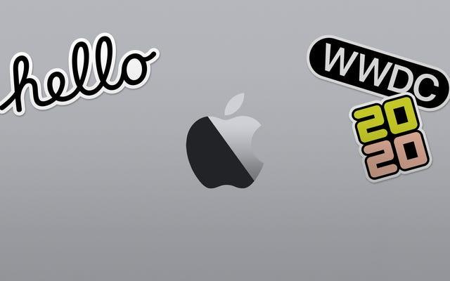 Appleは2020年に向けてWWDCをオンラインに移行しています