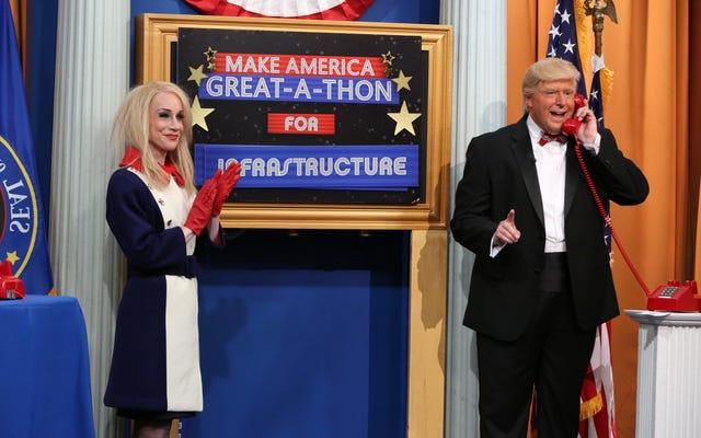 The President Show dönerken, bir teleton bile Mueller'in hayaletini uzak tutamaz.