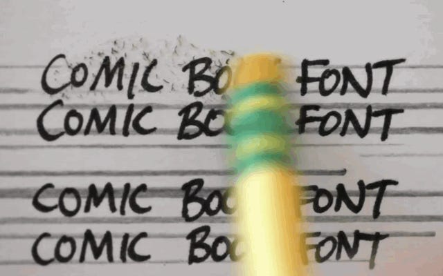 เหตุใดการ์ตูนทั้งหมดจึงเขียนด้วยแบบอักษรลักษณะเดียวกัน