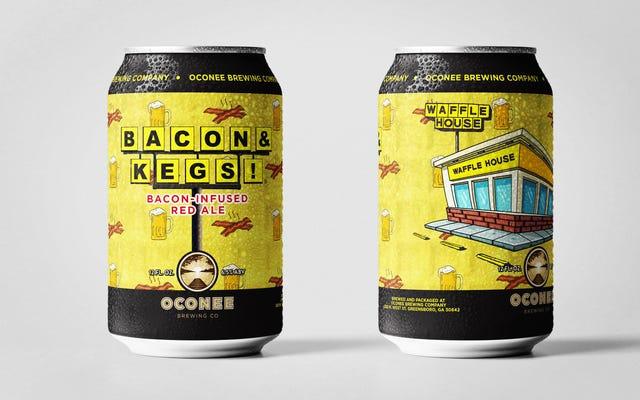 ワッフルハウスはベーコンの香りのビールをリリースし、神が死んでいないことを証明します