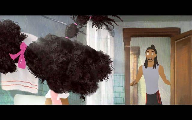 ウォッチ:マシューチェリーのヘアーラブからのこのクリップでは、ママのいない髪の闘争は本物です