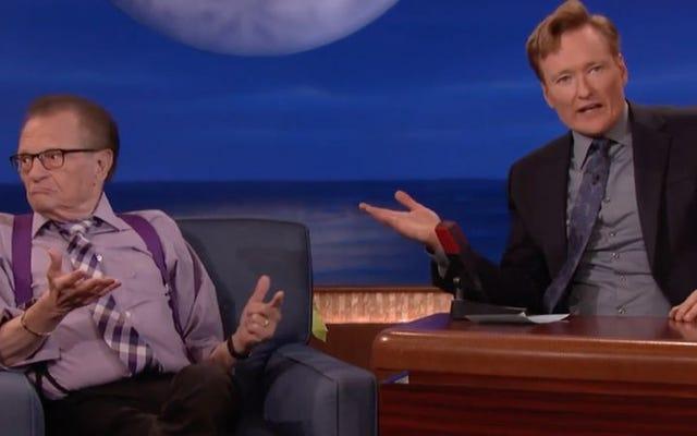 Larry King, Conan'da herkese kral gibi davranmak istiyor