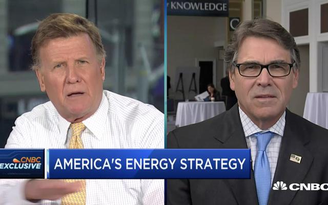 Reality Loser, Rick Perry, afferma che la CO2 non causa il riscaldamento globale