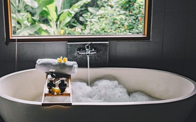 バスタブオーバーフローカバーでより豪華なお風呂に入る