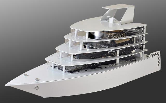 Il tuo prossimo PC da gioco truccato merita una custodia di lusso a forma di yacht